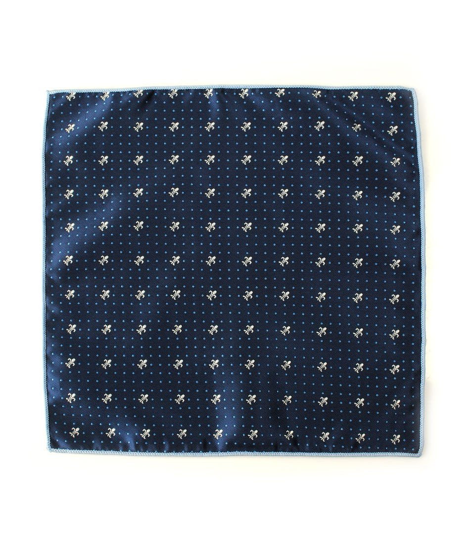 Navy Alfred Pocket Square - The Dapper Man