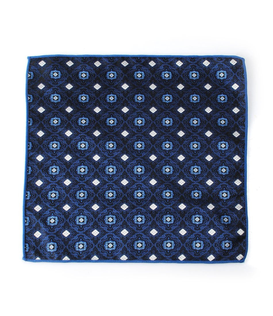Navy Classic Pocket Square - The Dapper Man