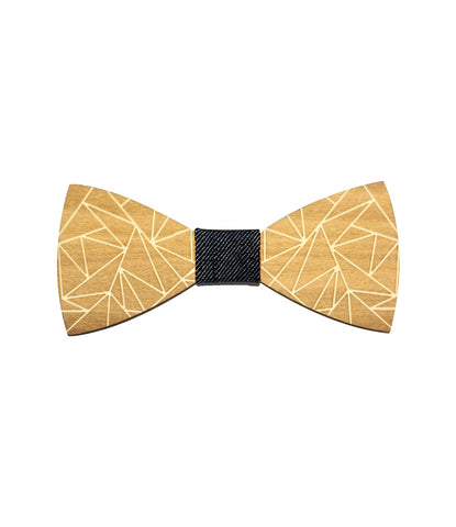 Wooden Geometric Bow Tie - The Dapper Man