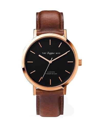 The Dapper Man - London Rose Gold - Brown Leather