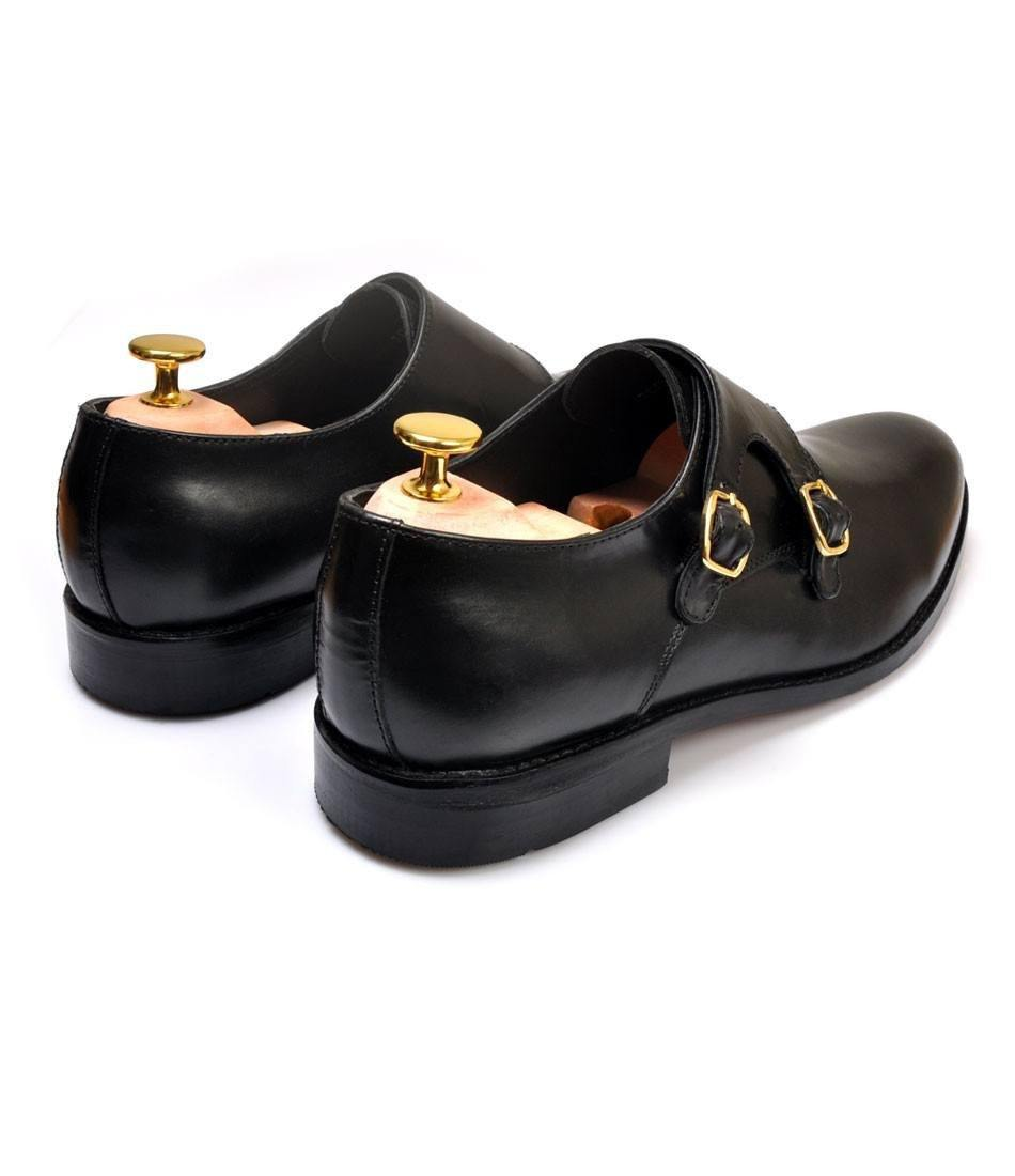 Double Monk Straps - Black
