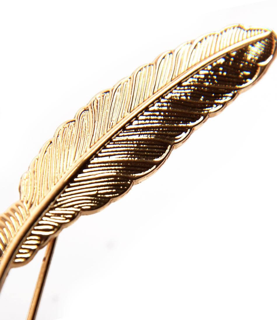 Golden Autumn Leaf Metal Lapel Pin - The Dapper Man