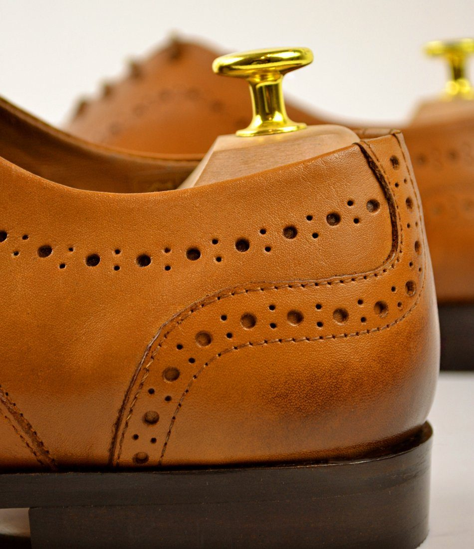 Cap Toe Oxfords - Tan - The Dapper Man