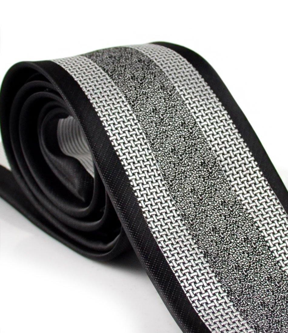 Black & Silver Classique Neck Tie - The Dapper Man