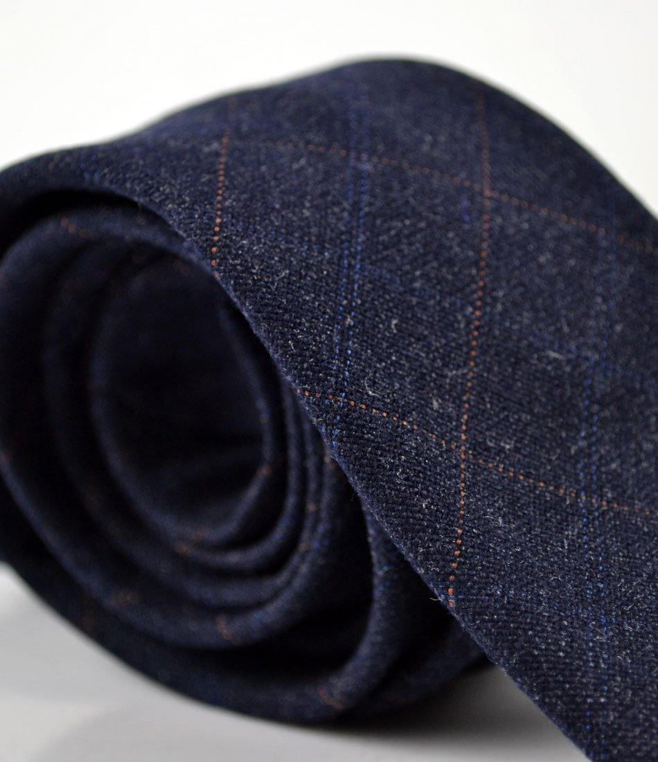Beglian Blue Plaid Woolen Neck Tie - The Dapper Man