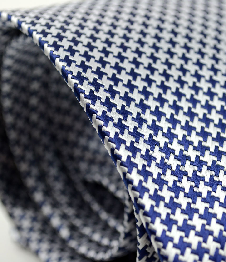 Red & Blue Hounds-tooth Neck Tie