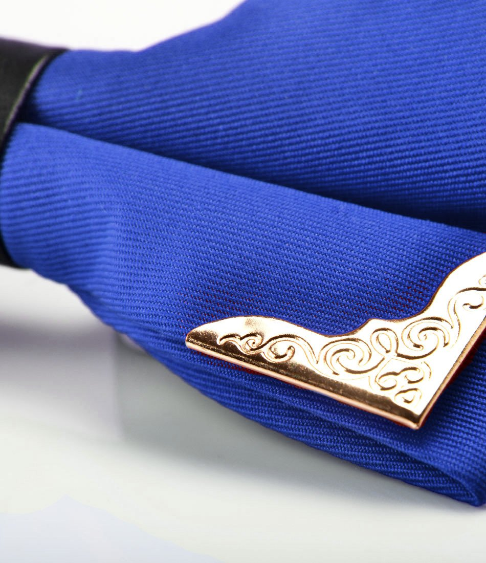 Royal Blue with Golden Edges Bow Tie - The Dapper Man