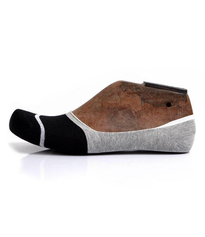 Black & Grey No-Show Socks - The Dapper Man