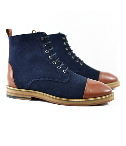 Pelle Santino - Blue Suede Lace-up Boot