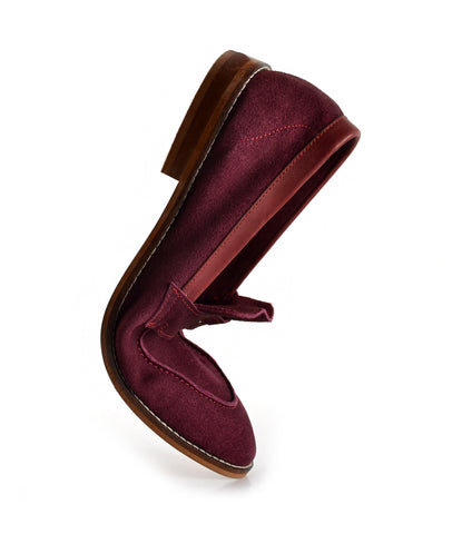 Burgundy Penny Loafers - Ultra-Flex - The Dapper Man