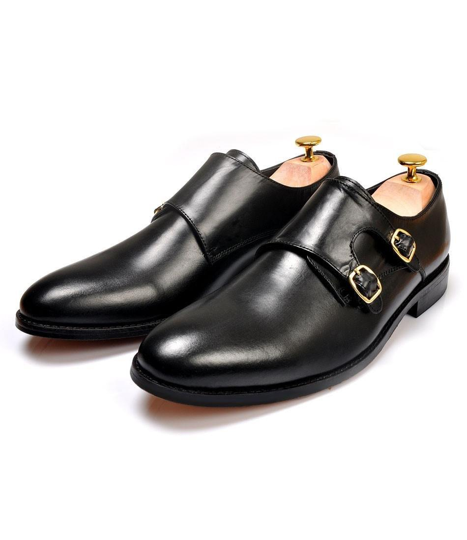 Pelle Santino - Double Monk Straps - Black
