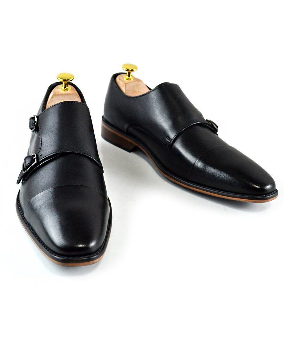 Double Monk Straps II - Black - The Dapper Man