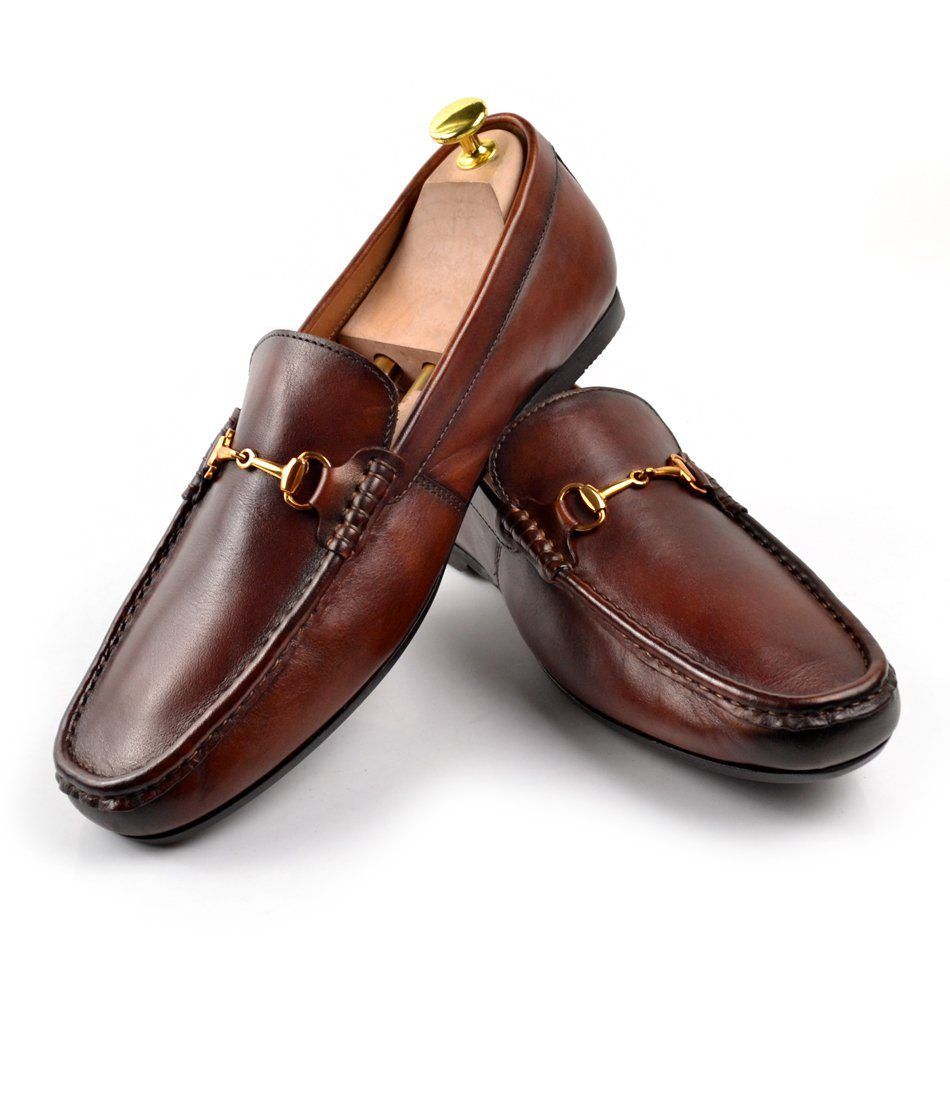 Leather Bit Loafers - Cognac - The Dapper Man