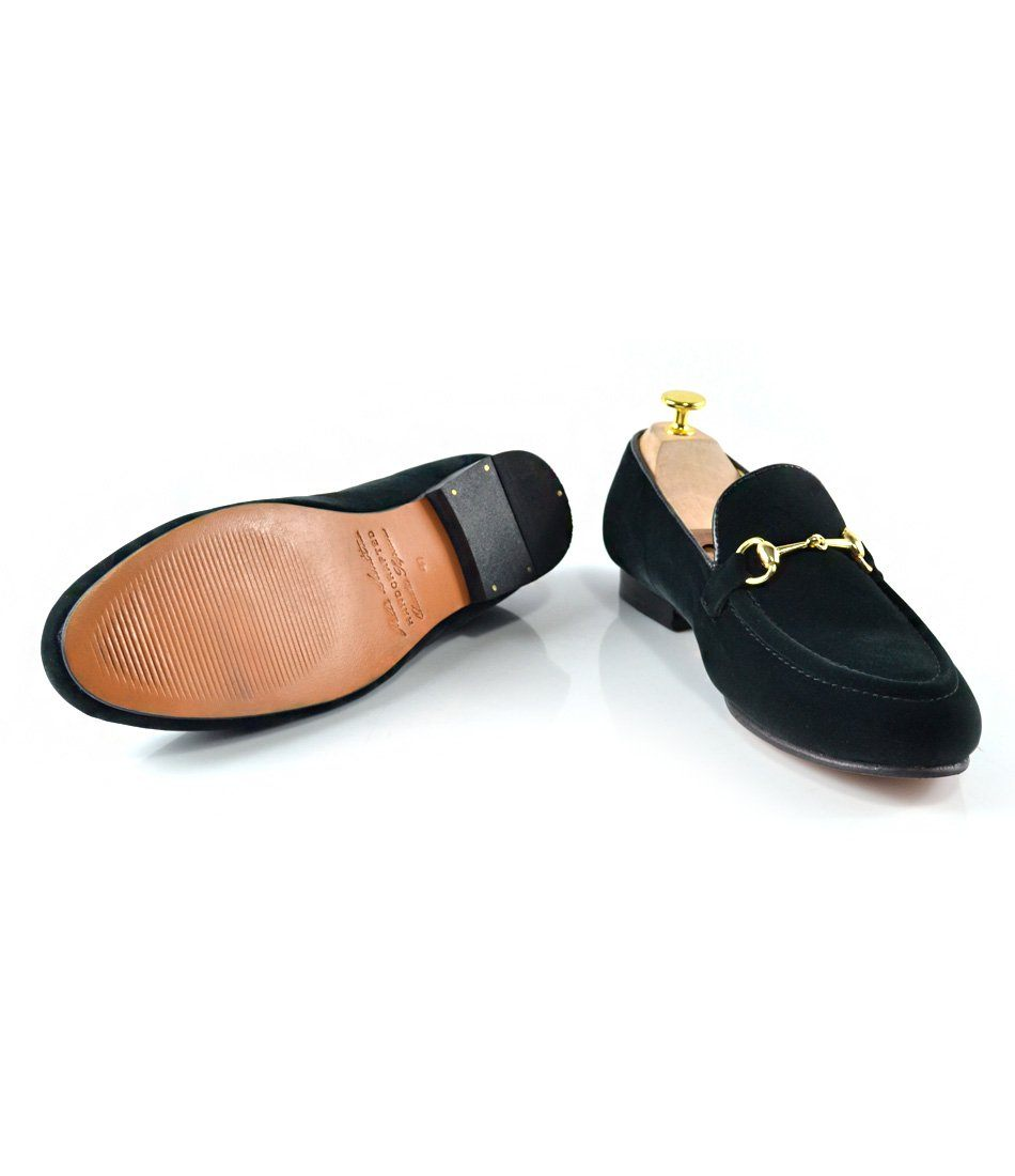 Green Velvet Bit Slippers - The Dapper Man