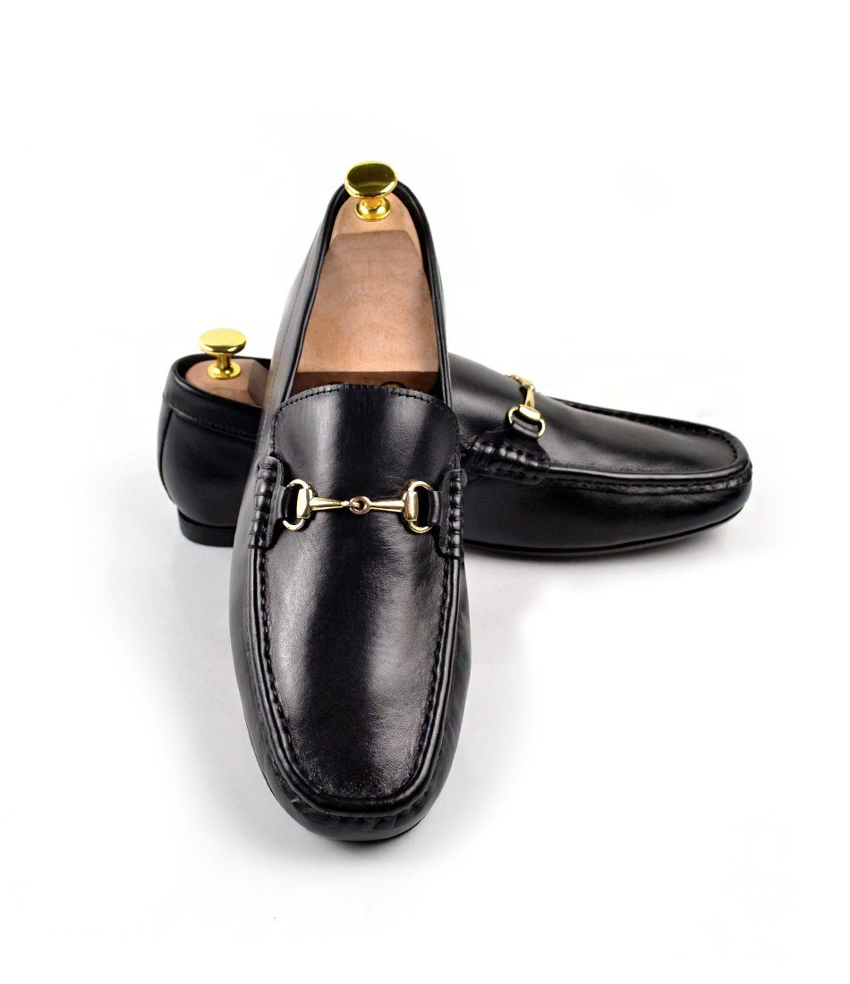 Leather Bit Loafers - Black - The Dapper Man