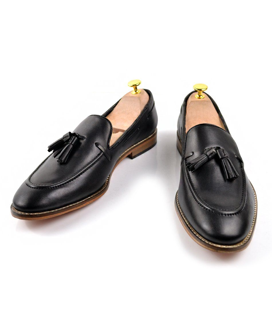 Black Tassel Loafers - The Dapper Man