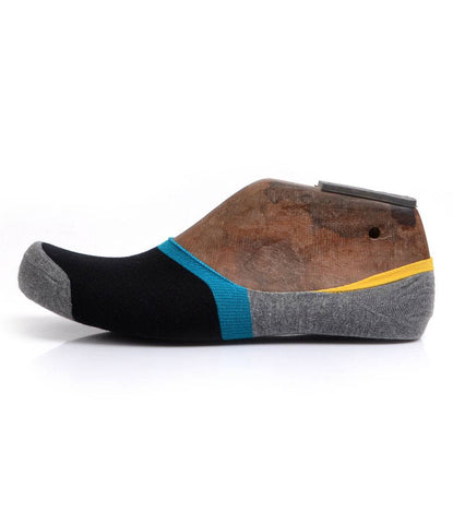 Black Grey & Blue No-Show Socks - The Dapper Man