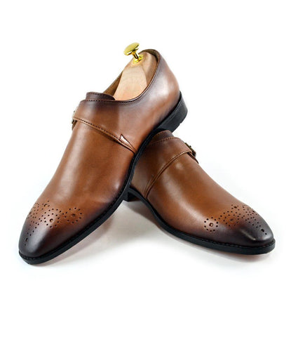 Single Monks - Tan (Hand Painted) LE - The Dapper Man