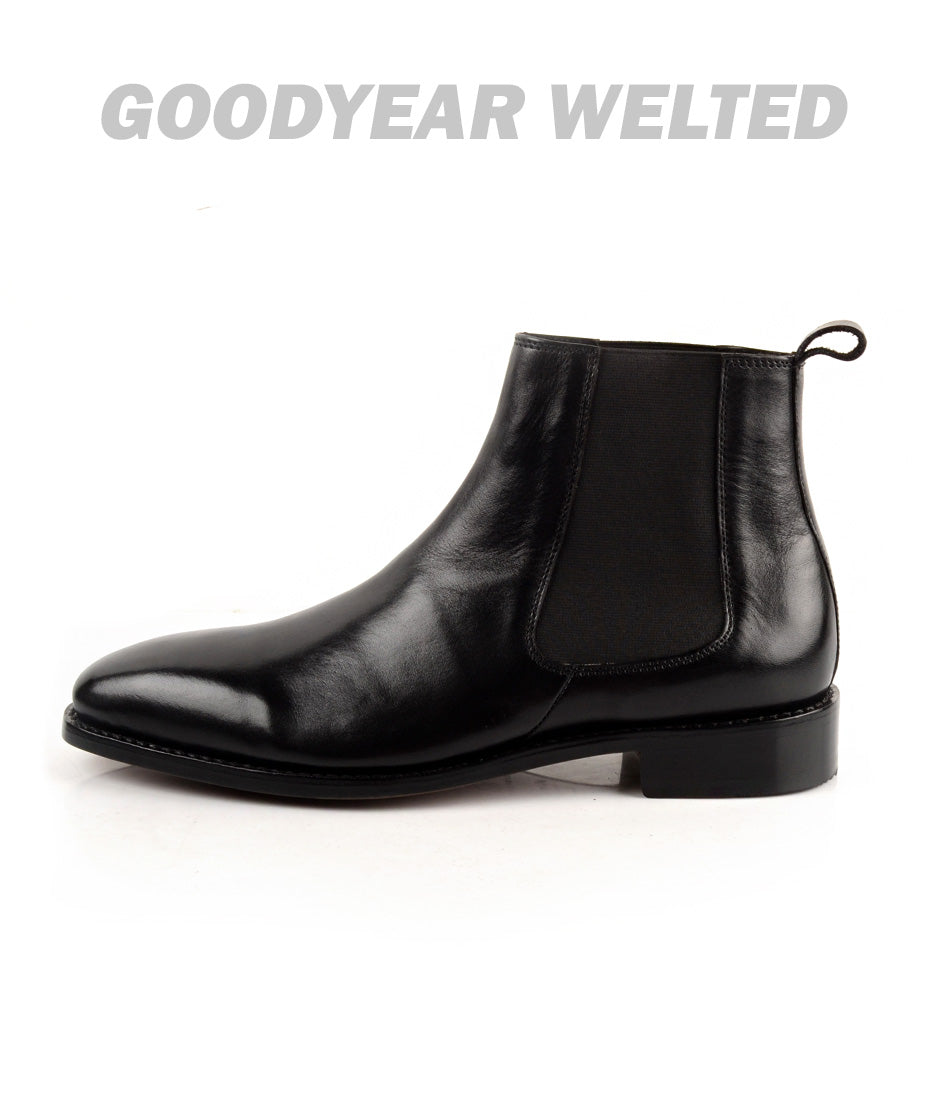 Pelle santino - Goodyear Welted - Chelsea Boot - Black