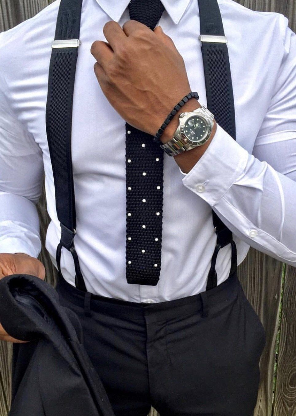 Black with White Dots Neck Tie - The Dapper Man