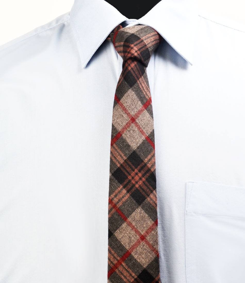 Tartan Plaid Rich Woolen Neck Tie - The Dapper Man
