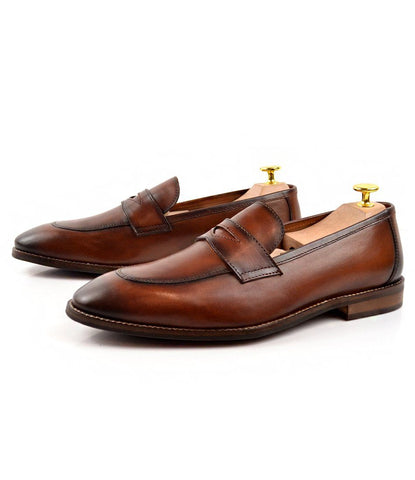 Pelle santino - Cognac Penny Loafers