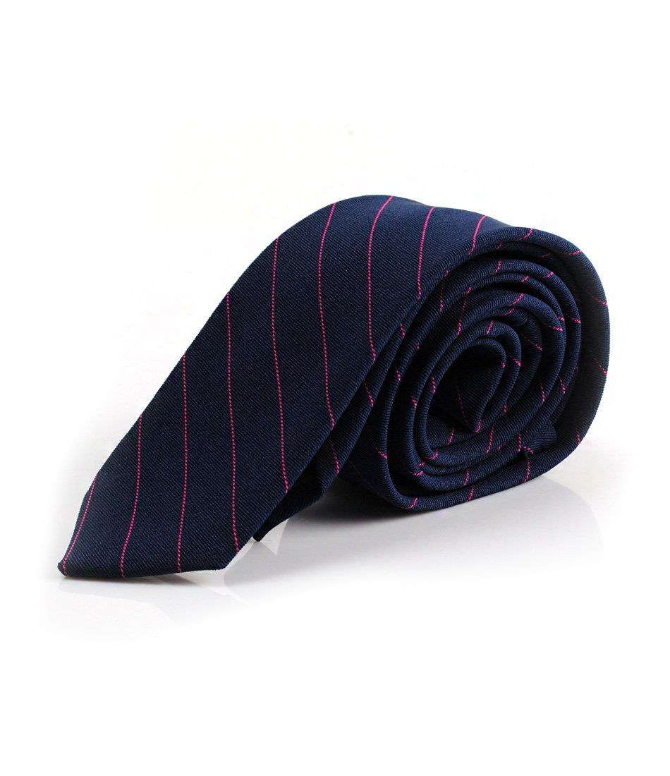 Navy & Pink Stripes Neck Tie - The Dapper Man