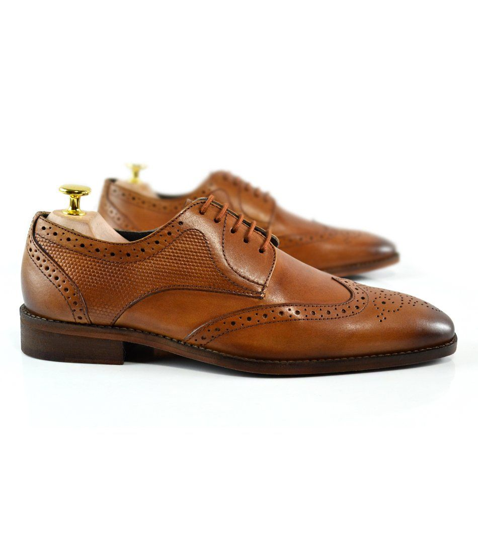 Full Brogue Derby - Tan - The Dapper Man