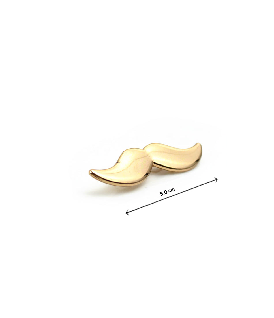 the dapper man - Gold Mustache Tie Bar