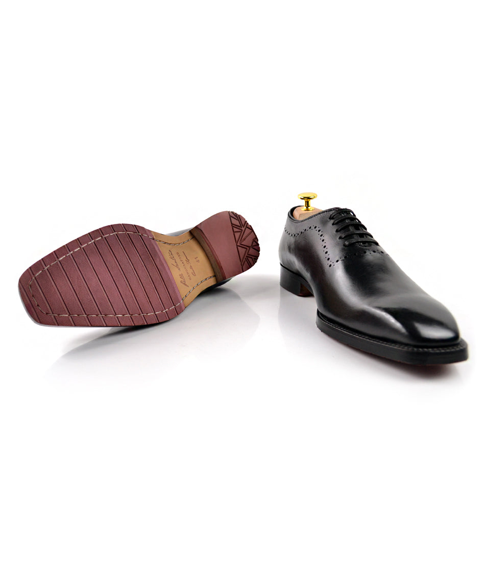 Wholecut Oxfords - Black - The Dapper Man
