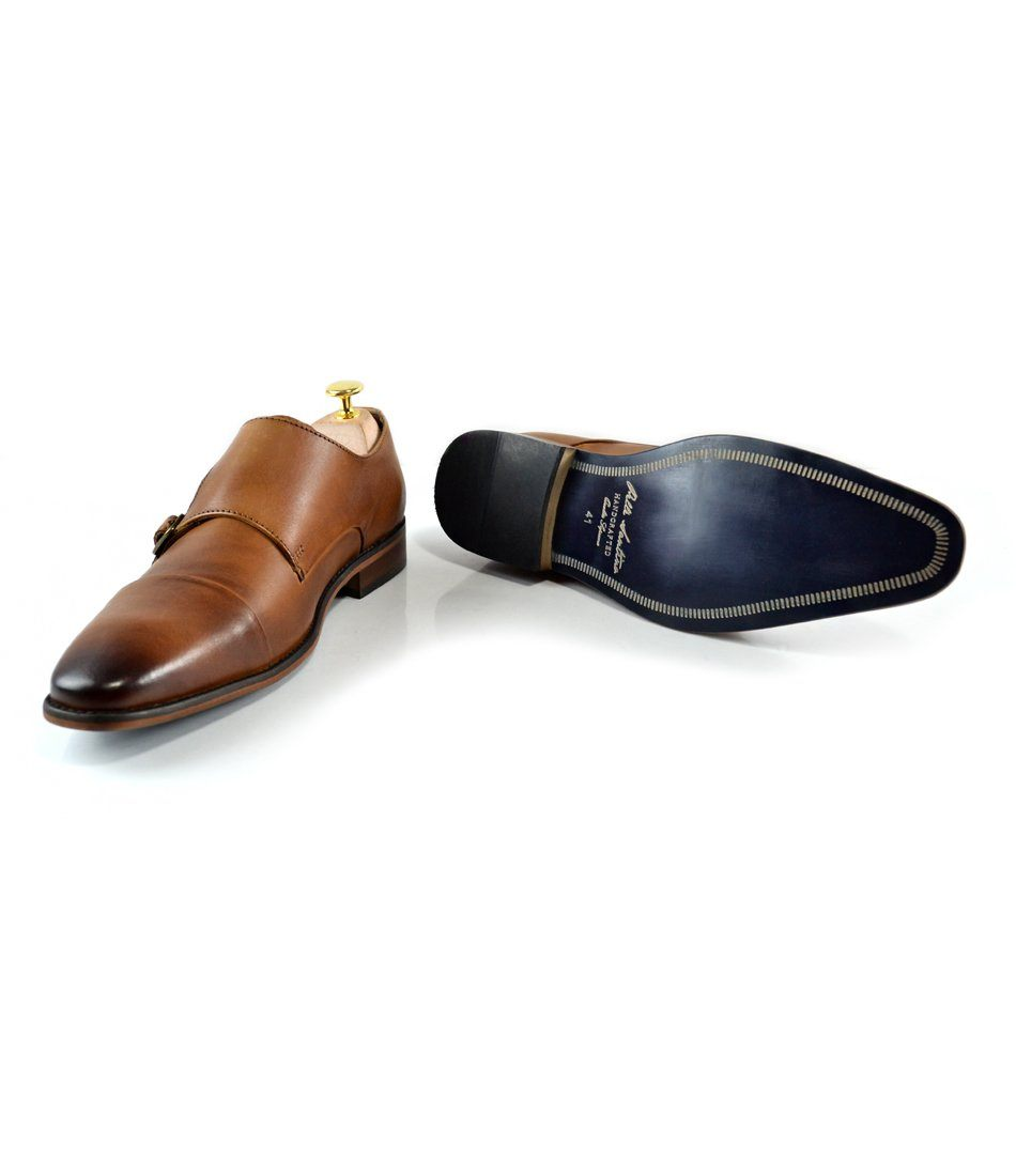 Double Monk Straps - Tan - The Dapper Man