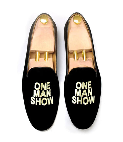 Pelle Santino - Black Albert Velvet Slippers - One Man Show