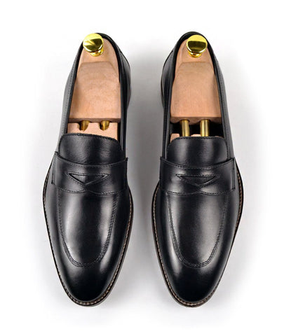 pelle santino - Black Penny Loafers
