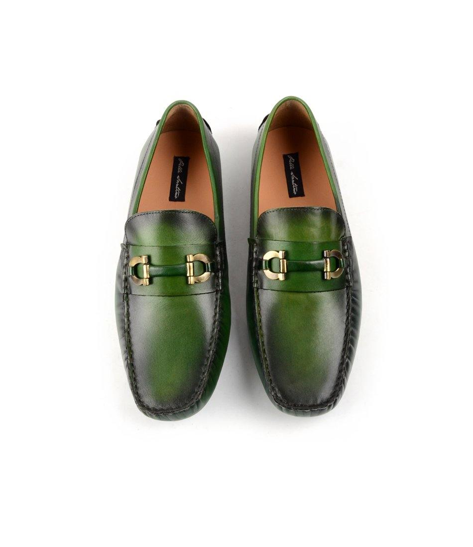 pelle santino - Bit Driving Loafer - Green