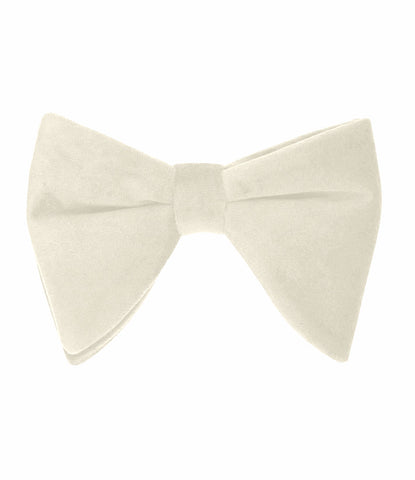 Off White Velvet Butterfly Bow Tie - The Dapper Man