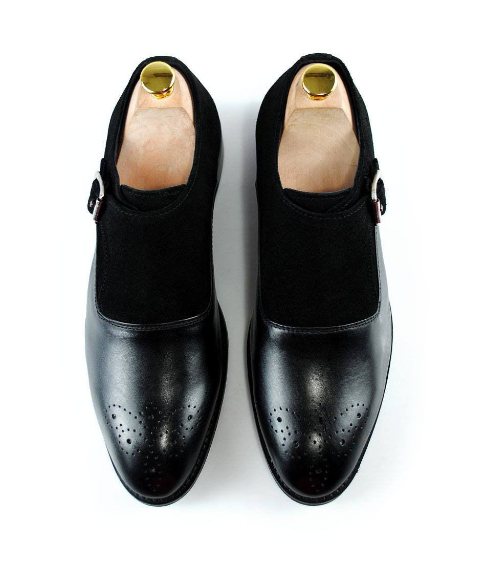 Black Combination Single Monks - The Dapper Man