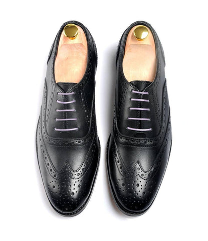 Full Brogue Oxfords - Black - The Dapper Man