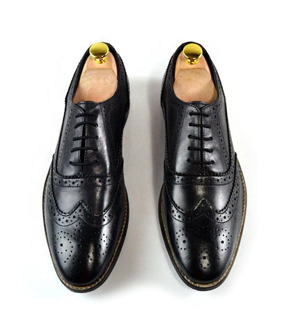 Full Brogue Oxfords II - Black - The Dapper Man