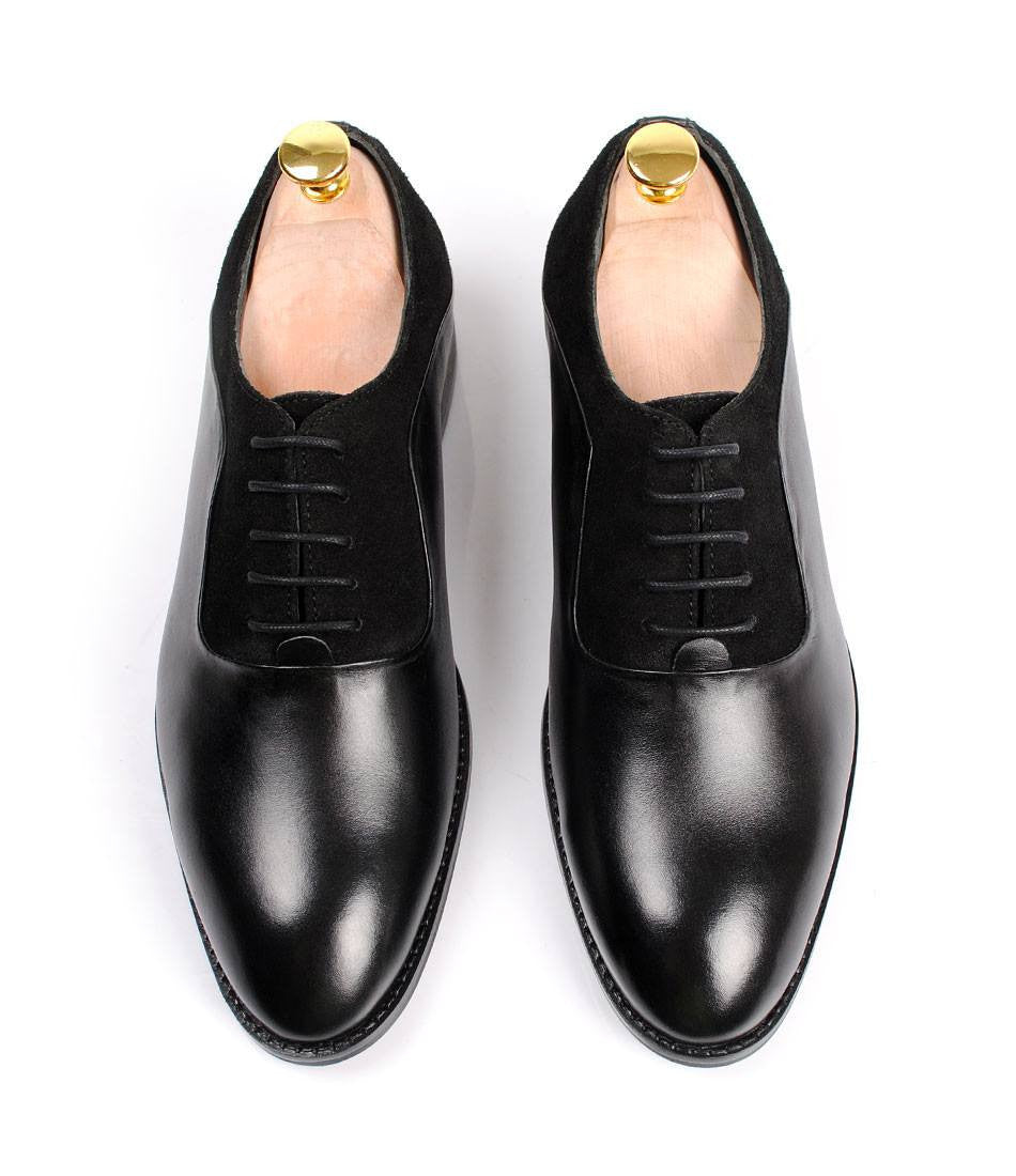 Black Combination Oxfords - The Dapper Man