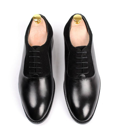 Black Combination Oxfords