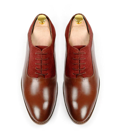 Oxblood Combination Oxfords - The Dapper Man