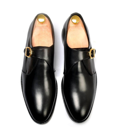 Single Monk Strap - Black - The Dapper Man