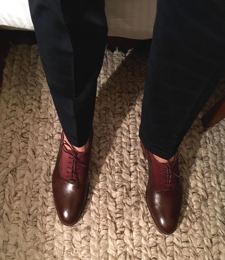 Oxblood Combination Oxfords