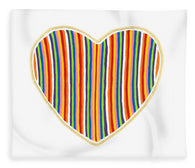Heart Stripes - Blanket