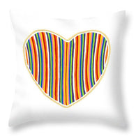 Heart Stripes - Throw Pillow