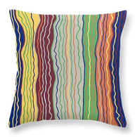 Modern Squiggles 3 - Throw Pillow