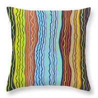 Modern Squiggles 4 - Throw Pillow
