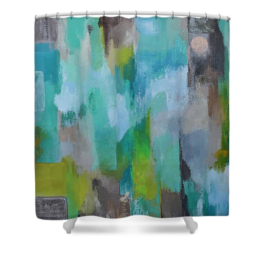 Silver Moon - Shower Curtain