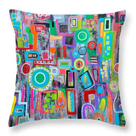 Summer in the City - Throw Pillow