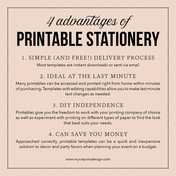 4 Advantages of Printable Stationery